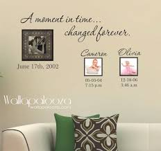 Family Wall Decal Custom Wall Decal A Moment In Time Changed Forever With Set Of Names And Dates Family Wall Decals Family Wall Custom Wall Decal