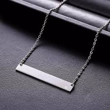 new personalized bar pendant necklace