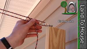 Install A Clothes Line Youtube