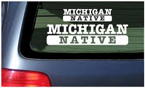 Amazon Com Michigan Native White Vinyl Sticker Window Decal Automotive