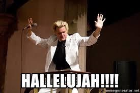 hallelujah!!!! - crazy preacher | Meme Generator