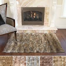 brown faux fur area rugs at