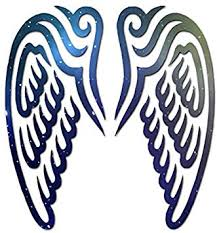 Amazon Com Angel Wings Art Vinyl Decal Sticker 3 75 X 4 Galaxy Home Improvement