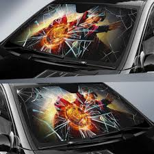 Doctor Strange Car Auto Sun Shade Broken Windshield Funny Wear Wanta