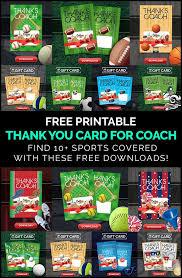 diy coach gifts printable thank you