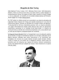 Biografia de Allan Tuning.docx | Alan Turing