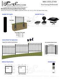 Blank Aluminum Fence Posts