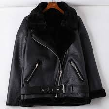 fur lined jackets white black red color