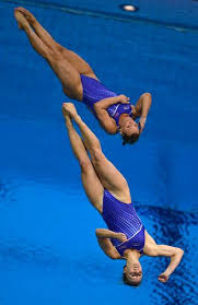 US divers Abigail Johnston and Kelci Bryant dive during the women's  synchronised 3m springboard diving… | Best basketball shoes, Women's  diving, Basketball uniforms