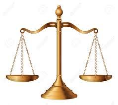 Escalas De La Justicia Es Una Ilustración De La Balanza De La ...