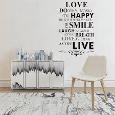 Inspirational Wall Decals Quotes Have Hope Be Strong Word Wall Sticker Quotes Lauhg Loud Family Wall Art Decoration Wl1206 Wall Stickers Aliexpress