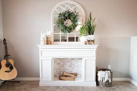faux fireplace with storage