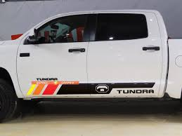 Tundra Vintage Bed Stripes Vinyl Stickers Decal Kit For Toyota Tundra Rocker Panel