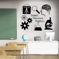 Science Wall Decal Learn Discover Explore Science Classroom School Vinyl Sticker Science Wall Art Sk47 Wall Stickers Aliexpress