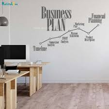 Business Plan Vinyl Wall Decal Office Timeline Marketing Financial Planning Stickers Hall Decor Poster Self Adhesive Yt4153 Wall Stickers Aliexpress