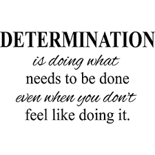 Amazon Com Creativesignsndesigns Determination Motivational Quote Fitness Life Gym Vinyl Wall Decal Black 22 X13 Home Kitchen