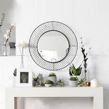 modern round iron circle metal mirror