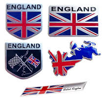 3d Aluminum England Letter Emblem Badge Decal Car Sticker British Flag Union Jack Nation Car Styling For Subaru Volvo Ford Skoda Car Stickers Aliexpress