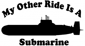 My Other Ride Is A Submarine Car Or Truck Window Decal Sticker Or Wall Art Decalsrock