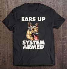 german shepherd ears up system armed