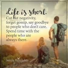 unknown author life short negativity goodbye rz simple