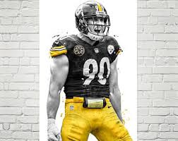 Steelers Poster Etsy