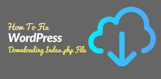 fix wordpress ing index php
