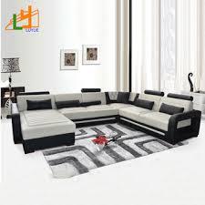 heated genuine leather 7 seater sofa