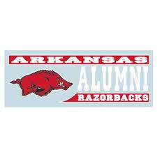 Arkansas Razorbacks Arkansas Automotive Decals Alumni Hall