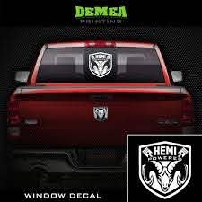 Amazon Com Dodge Ram Hemi Powered Window Truck Decal Sticker 8 White Choose Color Clothing