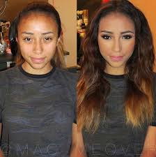 s before after makeup