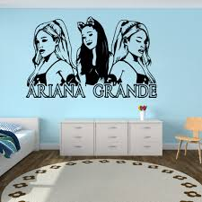 Large Ariana Grande Music Wall Sticker Girl Room Music Super Star Wall Decal Bedroom Fans Vinyl Home Decor Wall Stickers Aliexpress