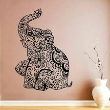 Elephant Vinyl Decal Indian Elephant Wall Sticker Animal Symbol Vinyl Decals Wall Vinyl Decor 10hta In 2020 Wall Stickers Animals Wall Vinyl Decor Vinyl Wall Decals