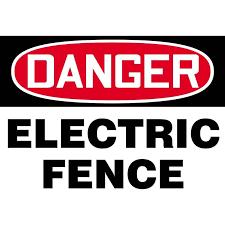 Danger Electric Fence Warning Sign Gempler S