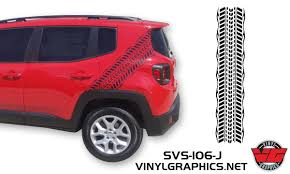 Vehicle Graphics Rally Stripe Decals 2015 Jeep Renegade Tire Track Graphic