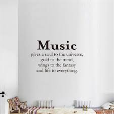 17 Off 2020 Music Gives A Soul To The Universe Art Apothegm Home Decal Wall Sticker In Black Dresslily