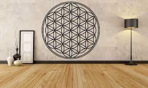 Flower Of Life Sacred Geometry Vinyl Wall Decal The Personalized Gift Co