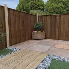 4ft High Mercia Closeboard Vertical Hit And Miss Fence Panels Pressure Treated Elbec Garden Buildings