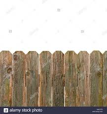 Rustic Wooden Fence Isolated On White Background With Copy Space Stock Photo Alamy