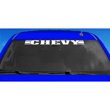 Chroma Chevy Xpression Windshield Decal By Chroma At Fleet Farm