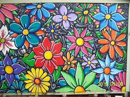 Grasp Flower Mural Flower Mural Mural Wall Art Mural Painting