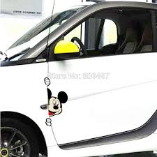 Lovely Car Styling Mickey Peeking Peeping Car Doors Edge Decorations Creative Car Stickers Decal Vinyl Mickey Mouse Car Stickers Sticker Carcat Car Decal Aliexpress