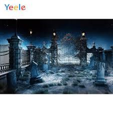 Yeele هالوين التصوير الفوتوغرافي مخيف القلعة القديمة مقابر خلفيات