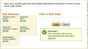 amazon gift cards and promotional codes