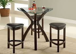 glass top counter height table set
