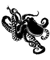 Amazon Com Cute Kraken Vinyl Decal Sticker Black Automotive