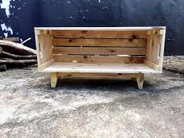 wooden pallet crate box on legs