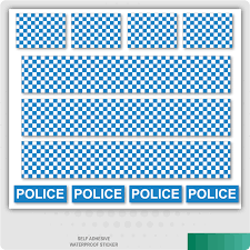 Police Decals Road Mountain Bike Bicycle Toy Car Stripes Frame Stickers Ebay