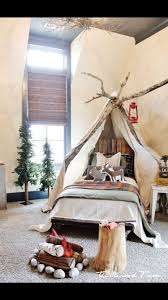 I Want The Fake Trees The Fake Campfire The Wooden Frame Around The Bed And Everything Else In This Room Kid Room Decor Bedroom Themes Simple Holiday Decor