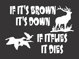 Hunting Elk Ducks 494 Die Cut Vinyl Window Decal Sticker For Car Truck